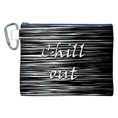 Black An White  chill Out  Canvas Cosmetic Bag (xxl)