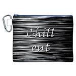 Black an white  Chill out  Canvas Cosmetic Bag (XXL) Front