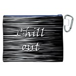 Black an white  Chill out  Canvas Cosmetic Bag (XXL) Back