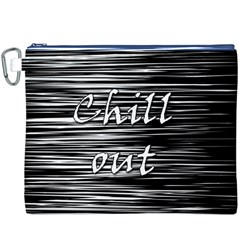 Black an white  Chill out  Canvas Cosmetic Bag (XXXL)
