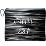 Black an white  Chill out  Canvas Cosmetic Bag (XXXL) Front