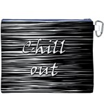 Black an white  Chill out  Canvas Cosmetic Bag (XXXL) Back