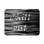Black an white  Chill out  Double Sided Flano Blanket (Mini)  35 x27 Blanket Front