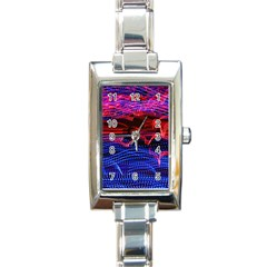 Lights Abstract Curves Long Exposure Rectangle Italian Charm Watch