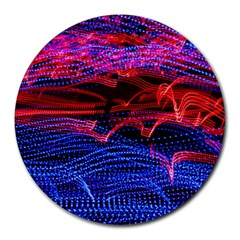Lights Abstract Curves Long Exposure Round Mousepads
