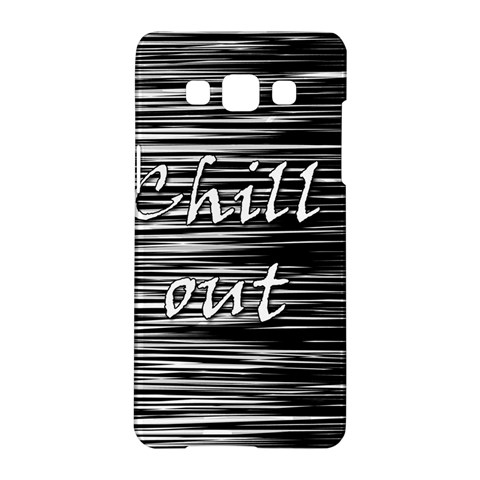 Black an white  Chill out  Samsung Galaxy A5 Hardshell Case