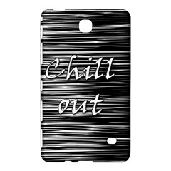 Black An White  chill Out  Samsung Galaxy Tab 4 (7 ) Hardshell Case