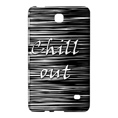 Black an white  Chill out  Samsung Galaxy Tab 4 (8 ) Hardshell Case