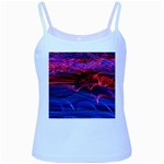 Lights Abstract Curves Long Exposure Baby Blue Spaghetti Tank Front