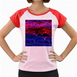 Lights Abstract Curves Long Exposure Women s Cap Sleeve T-Shirt Front