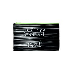 Black an white  Chill out  Cosmetic Bag (XS)