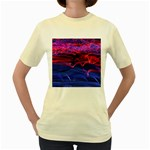 Lights Abstract Curves Long Exposure Women s Yellow T-Shirt Front