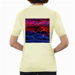 Lights Abstract Curves Long Exposure Women s Yellow T-Shirt Back