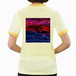 Lights Abstract Curves Long Exposure Women s Fitted Ringer T-Shirts Back