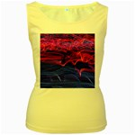 Lights Abstract Curves Long Exposure Women s Yellow Tank Top Front