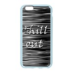 Black an white  Chill out  Apple Seamless iPhone 6/6S Case (Color) Front
