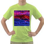 Lights Abstract Curves Long Exposure Green T-Shirt Front
