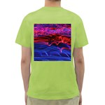 Lights Abstract Curves Long Exposure Green T-Shirt Back