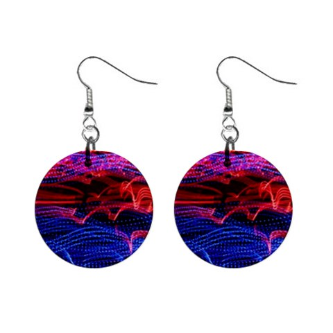 Lights Abstract Curves Long Exposure Mini Button Earrings