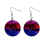 Lights Abstract Curves Long Exposure Mini Button Earrings Front
