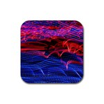 Lights Abstract Curves Long Exposure Rubber Coaster (Square)  Front