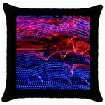 Lights Abstract Curves Long Exposure Throw Pillow Case (Black) Front