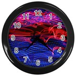 Lights Abstract Curves Long Exposure Wall Clocks (Black) Front