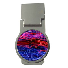 Lights Abstract Curves Long Exposure Money Clips (Round)