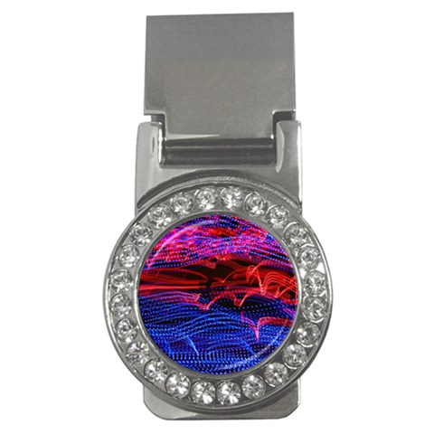 Lights Abstract Curves Long Exposure Money Clips (CZ)