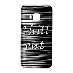 Black an white  Chill out  HTC One M9 Hardshell Case