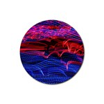 Lights Abstract Curves Long Exposure Rubber Round Coaster (4 pack)  Front