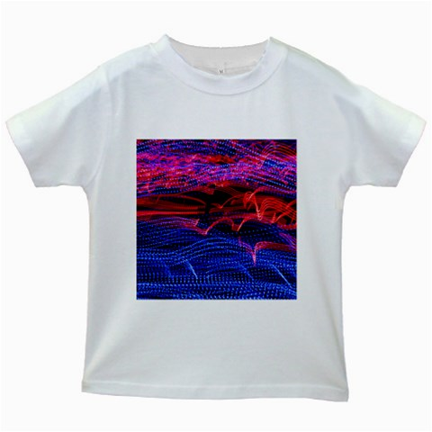 Lights Abstract Curves Long Exposure Kids White T-Shirts