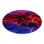 Lights Abstract Curves Long Exposure Oval Magnet Front