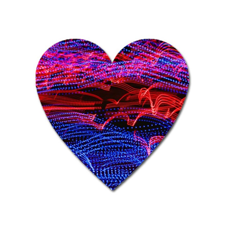 Lights Abstract Curves Long Exposure Heart Magnet