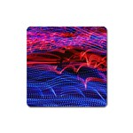 Lights Abstract Curves Long Exposure Square Magnet Front