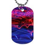 Lights Abstract Curves Long Exposure Dog Tag (One Side) Front