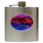 Lights Abstract Curves Long Exposure Hip Flask (6 oz) Front