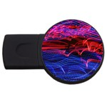 Lights Abstract Curves Long Exposure USB Flash Drive Round (2 GB)  Front