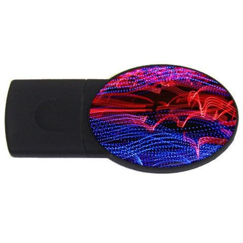 Lights Abstract Curves Long Exposure USB Flash Drive Oval (2 GB)