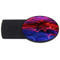 Lights Abstract Curves Long Exposure USB Flash Drive Oval (1 GB)