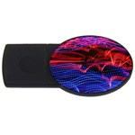 Lights Abstract Curves Long Exposure USB Flash Drive Oval (1 GB)  Front