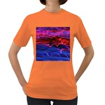 Lights Abstract Curves Long Exposure Women s Dark T-Shirt Front