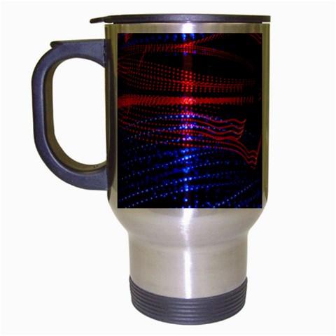 Lights Abstract Curves Long Exposure Travel Mug (Silver Gray)