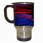 Lights Abstract Curves Long Exposure Travel Mugs (White) Left