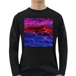 Lights Abstract Curves Long Exposure Long Sleeve Dark T-Shirts Front