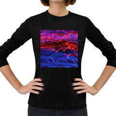 Lights Abstract Curves Long Exposure Women s Long Sleeve Dark T-Shirts