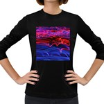 Lights Abstract Curves Long Exposure Women s Long Sleeve Dark T-Shirts Front