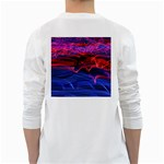 Lights Abstract Curves Long Exposure White Long Sleeve T-Shirts Back