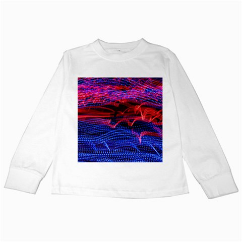 Lights Abstract Curves Long Exposure Kids Long Sleeve T-Shirts