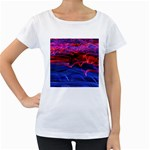 Lights Abstract Curves Long Exposure Women s Loose-Fit T-Shirt (White) Front